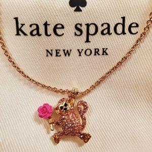 NWOT Kate Spade Rambling Rose Monkey Pendant